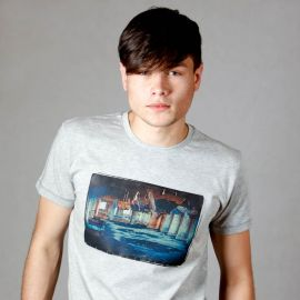 Printed Grey T-shirt